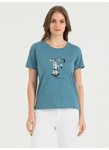 Loft Baskılı Tişört İndigo